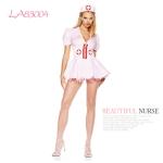 [레그에비뉴] 아름다운 줄무늬 간호사 복장 2종세트 LA83004