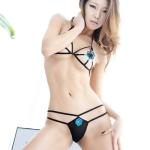 [TENPEURO] (S-9922-1) 블루블랙꽃잎 팬티브라셋트 (7)