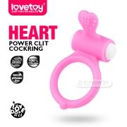 [Lovetoy] 파워 클리트 콕링(하트)-핑크