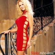 [레그에비뉴] 옆트임 튜브형 드레스 LA8260 (색상랜덤)