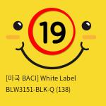 [미국 BACI] White Label BLW3151-BLK-Q (138)