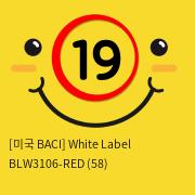 [미국 BACI] White Label BLW3106-RED (58)